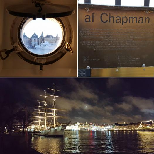 The boat, af Chapman, where Dennis stayed with the other participants in Stockholm.