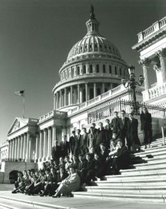 1999 Science Talent Search finalists at the Capitol building.