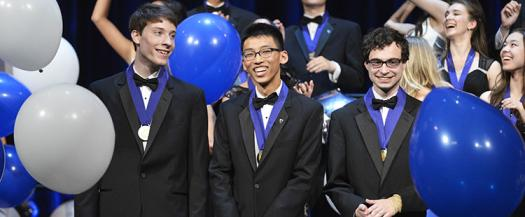Three top prizes were awarded at Intel STS 2015.