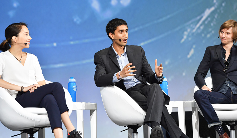 At Intel ISEF, Sheel Tyle (middle) realized you don't have to be old to create change.