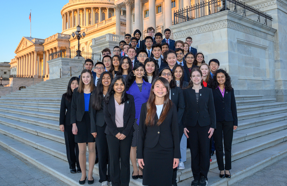 Science Talent Search 2019 Finalists, Washington DC Capitol steps