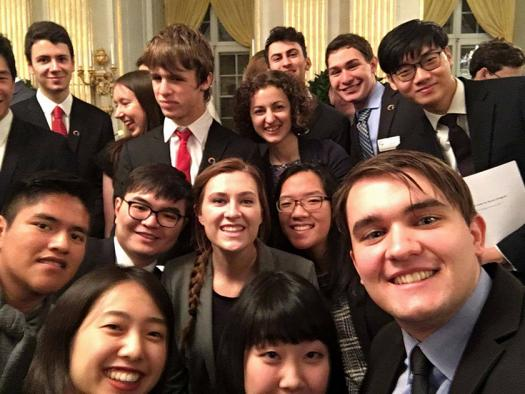 Students at the Stockholm International Youth Science Seminar, which three Intel ISEF 2017 finalists attended.