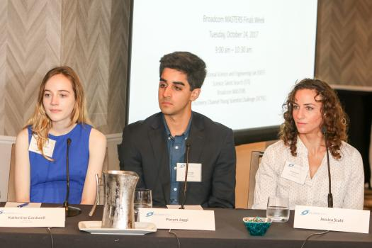 From left to right: Katherine Cordwell, Param Jaggi, and Jessica Stahl at the career panel.