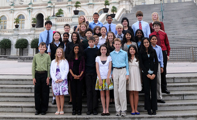 The Broadcom MASTERS from 2011, the first year of the education program for middle school students.