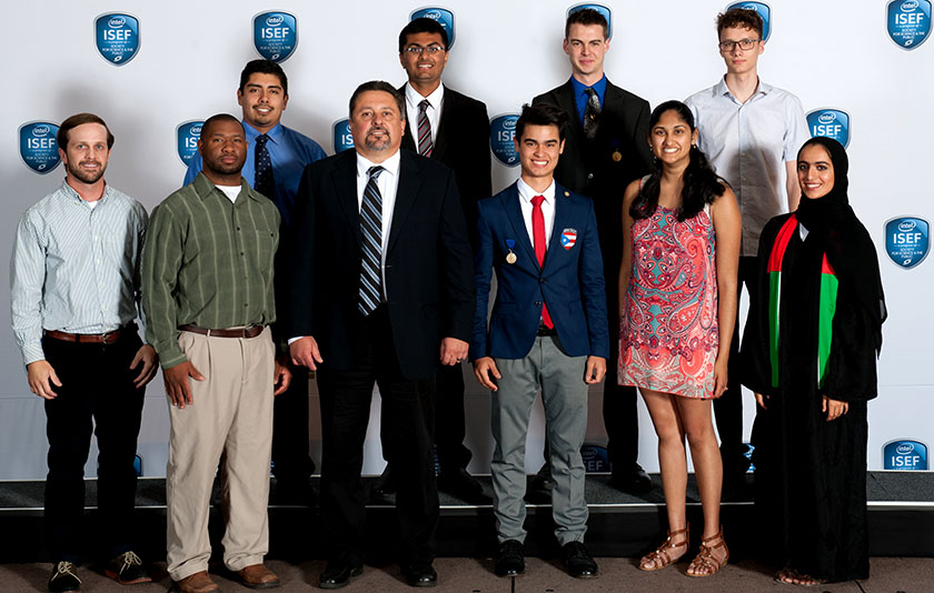 Intel ISEF 2016 finalists who received special awards from Alcoa Foundation.