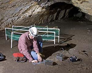 Alex working on an underground radio (2009).