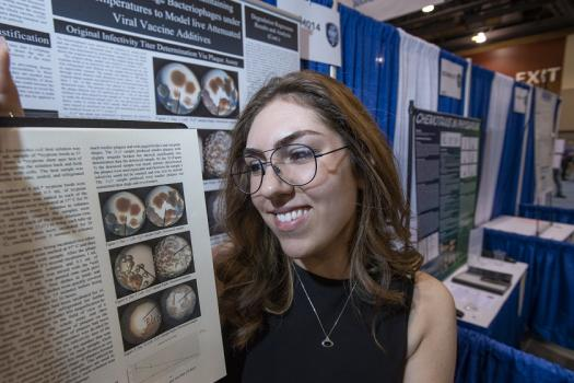 Annika shares her research at Intel ISEF 2019