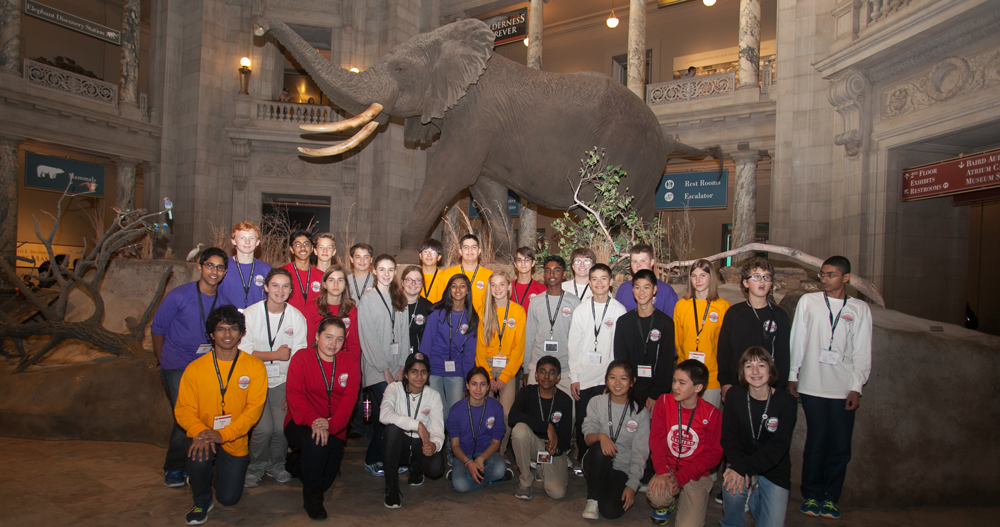 2014 Broadcom MASTERS Finalists at the Smithsonian Museum of Natural History
