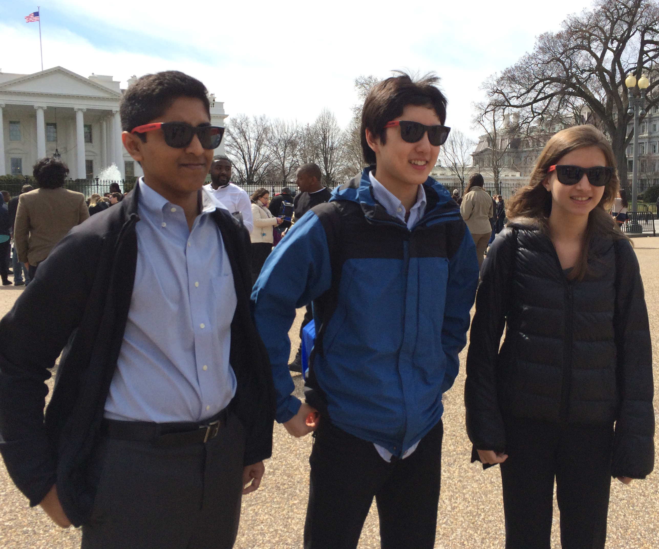 Nikhil Behari, Nathan Han, and Holly Jackson are all Broadcom MASTERS alumni. Nathan is also an Intel ISEF 2014 finalist.