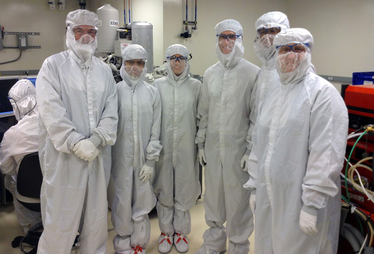 Bunny suited up to explore the Kavli Nanoscience Institute.