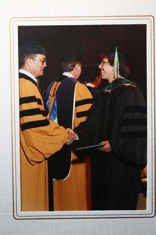 Carl Werner's graduation photo.