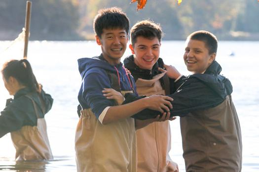 Kaien in the Chesapeake Bay with Omar Majzoub and Santiago Stone.