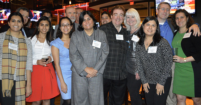 Alumni from the D.C. region celebrated the holidays and their time competing in the Society's various science education programs. From left: Smitha Ramakrishna (Intel STS 2009), Brian Castro (ISEF 1989), Debleena Sengupta (STS 1995), Subhayan Mookerjee, Nicole Casart (DCYSC 2005), Leslie Smith (STS 1958), Larry Washington (STS 1968), Maya Ajmera (STS 1985), Nick Superina (STS 1999), Bob Beckman (STS 1974), Susan Beckman, Amita Shukla (STS 1994), Kevin Heller (STS 1989), and Lisa Heller.