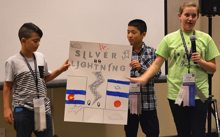 The silver team explained their creativity.