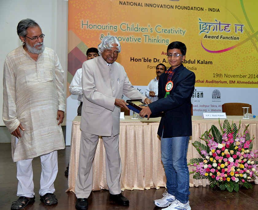 Shubh also received an IGNITE Award in 2014 for his devices that make bicycles more accessible to people with disabilities.