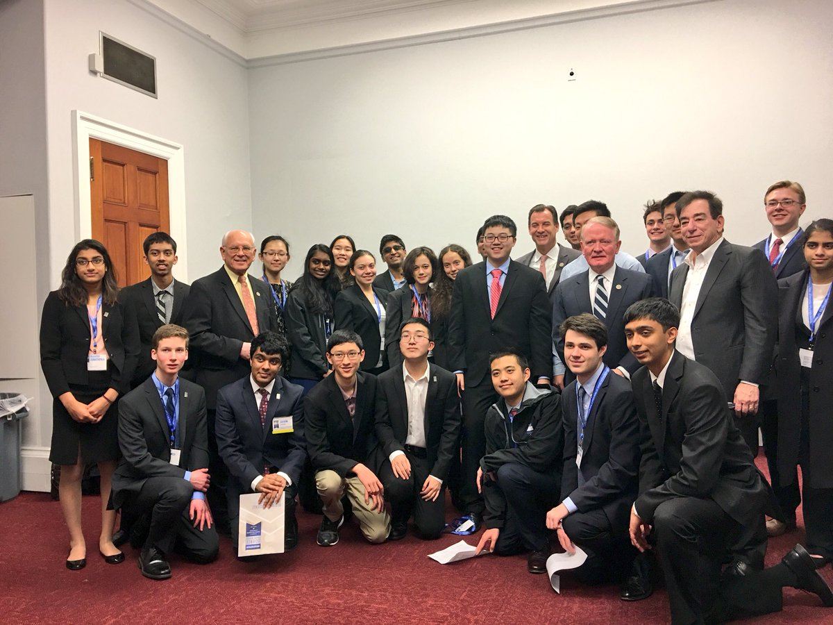 The Regeneron STS 2018 finalists visited their representatives and senators after competing in the Science Talent Search.