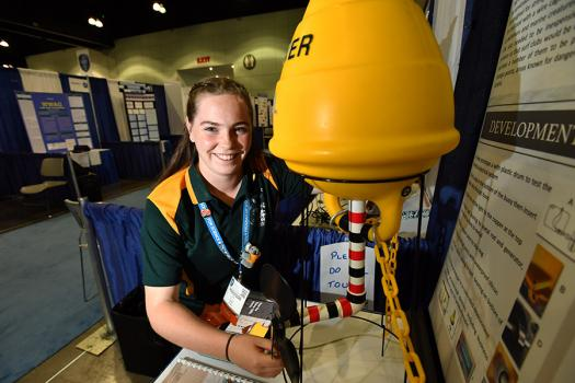 Maddison King, an Intel ISEF 2017 finalist from New South Wales, Australia, created The Clever GIRL, a Global Intelligent Rip Locator, which detects rip tides.