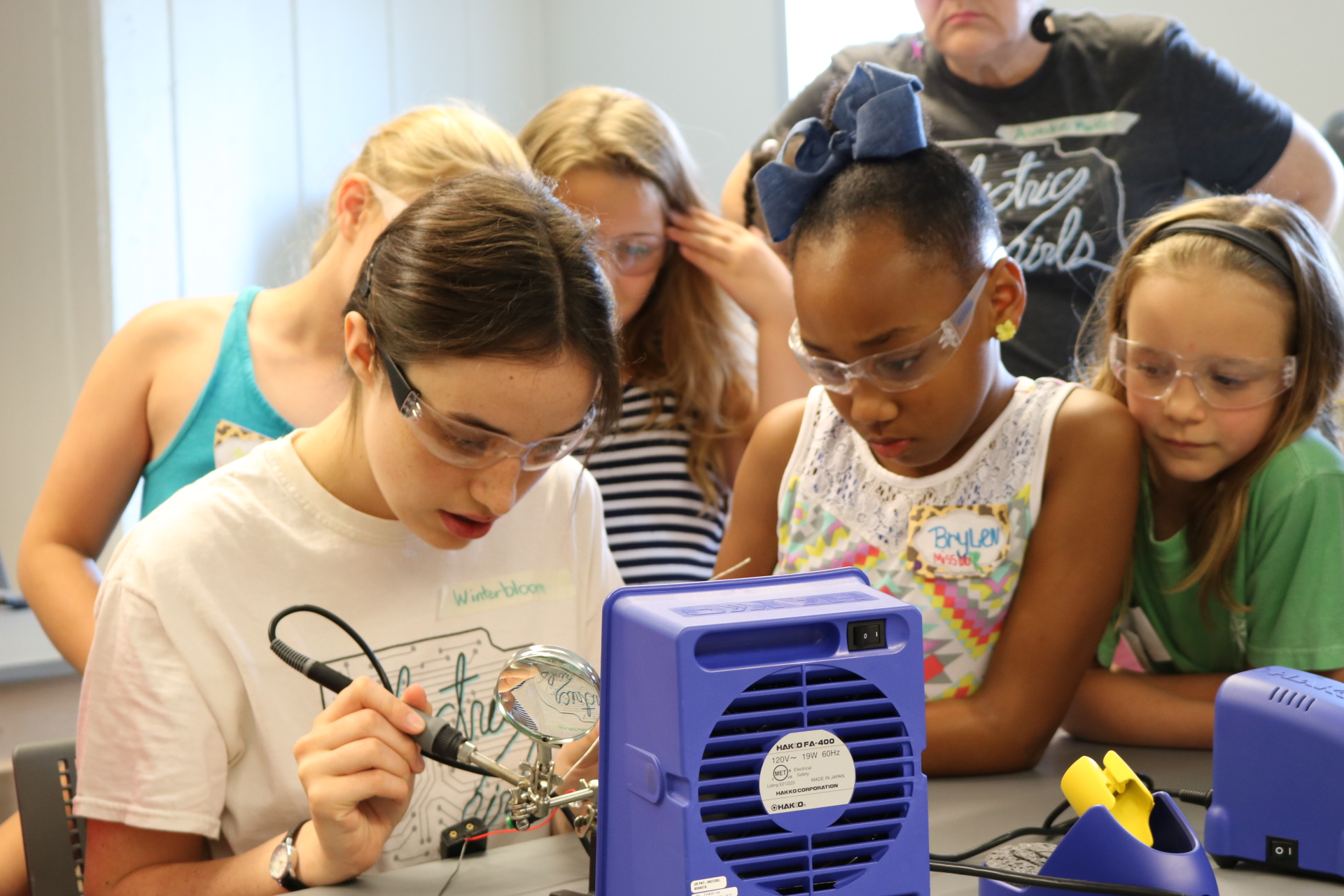 Through Electric Girls programming, girls develop code and other technology.