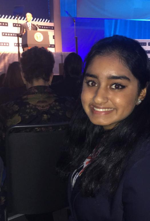 Aarushi shook President Obama's hand and virtually visited Mars at the White House Frontiers Conference. ~~ Photo courtesy of Aarushi Pendharkar.