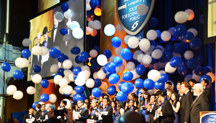 Intel STS Gala Balloon Drop