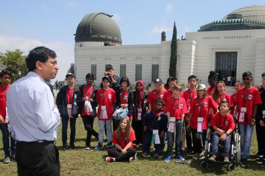 Goutam Chattopadhyay, Senior Research Scientist at NASA JPL, explains how to succeed in science, outside the Griffith Park Observatory.