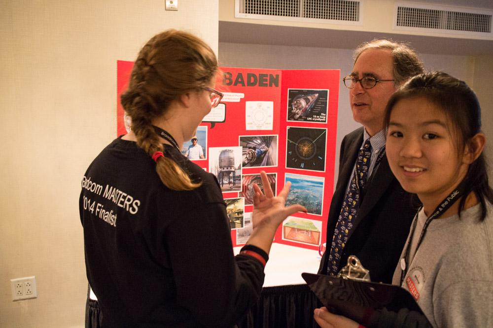 Caroline Nolan and Katherine Wu talk to Drew Baden during the Career Panel