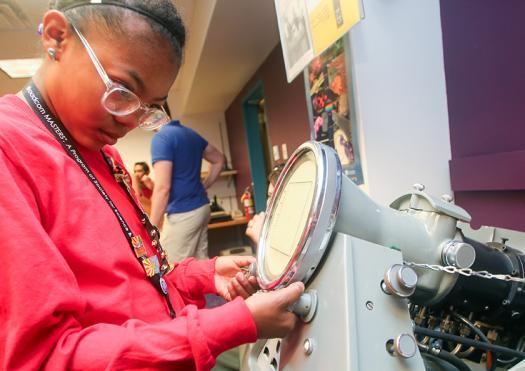 LaBelle LaFrance, a Broadcom MASTERS International delegate, explored a museum in Phoenix, Arizona.