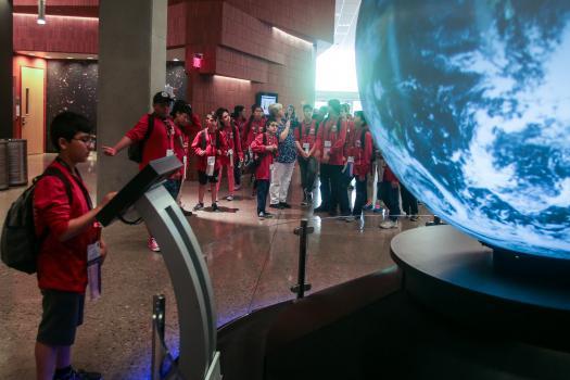 Broadcom MASTERS International delegates explored the cosmos.