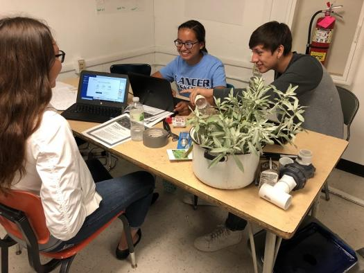 Lower Brule Research students working on their projects.
