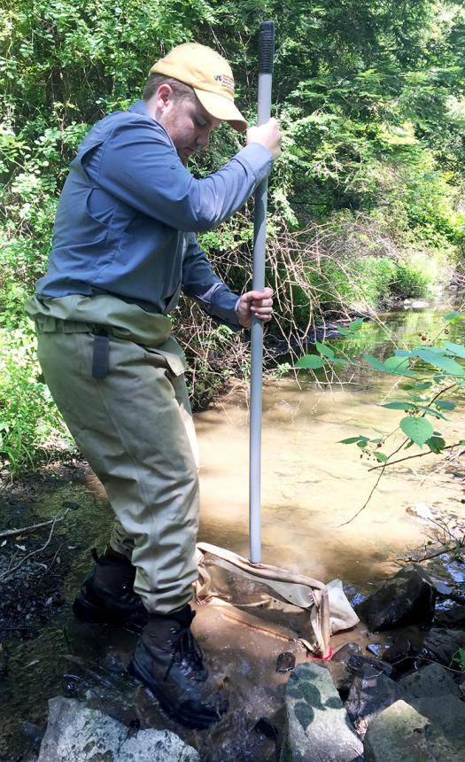 Vincent studied water quality in central Pennsylvania to see if shale drilling had any impact.