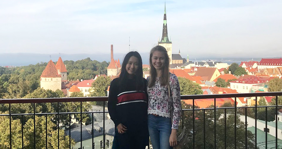 Kendra Zhang and Nicky Wojtania traveled around Estonia during the European Union Contest for Young Scientists.