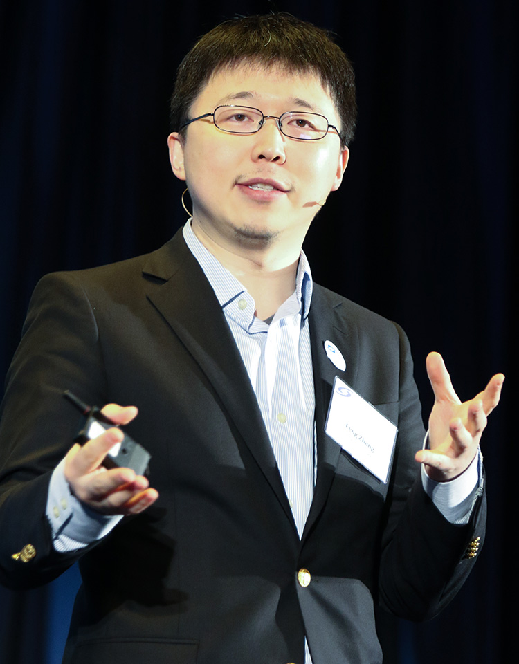 Feng Zhang talked about the creation of CRISPR/Cas9 at the alumni conference.