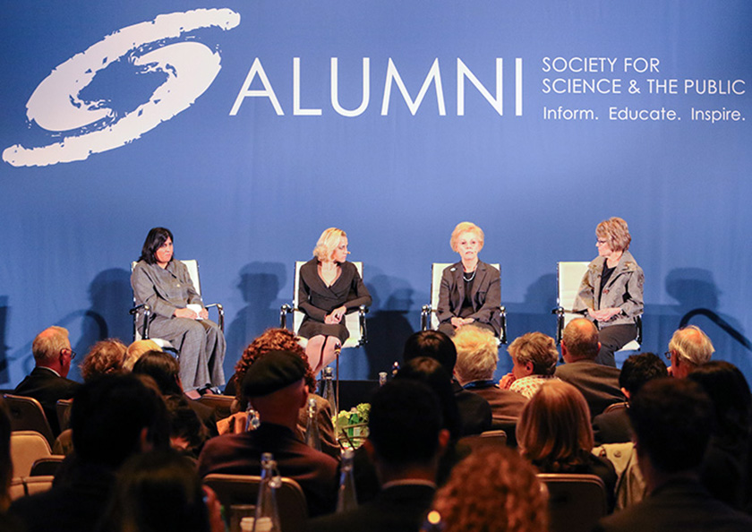 From left: Erikka Angle, Gayle Wilson, and Mary Sue Coleman explore what it takes to be a scientific leader.