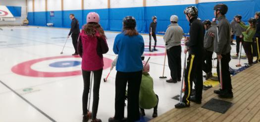 The finalists even got a chance to go curling, Sweden's national sport.