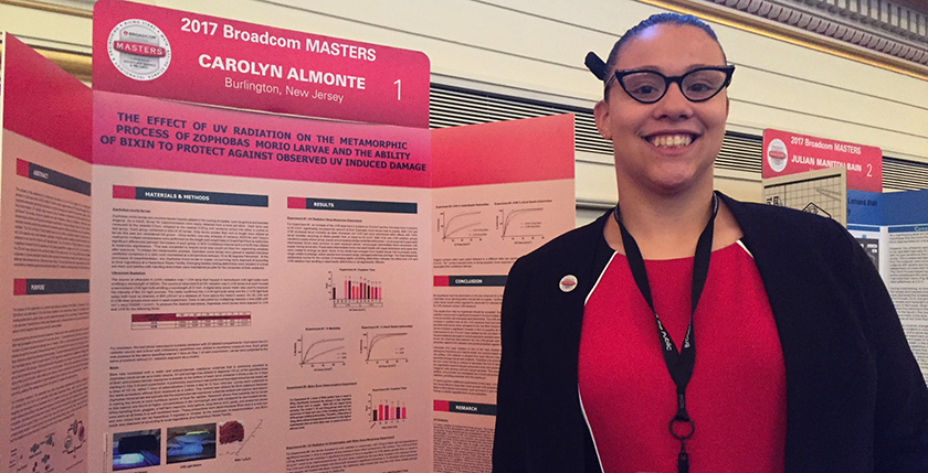 Carolyn Almonte researched bixin to see if it can become an internal sunscreen.