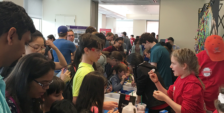 Eleanor Sigrest showed kids how to build their own rocket at the World Science Festival.