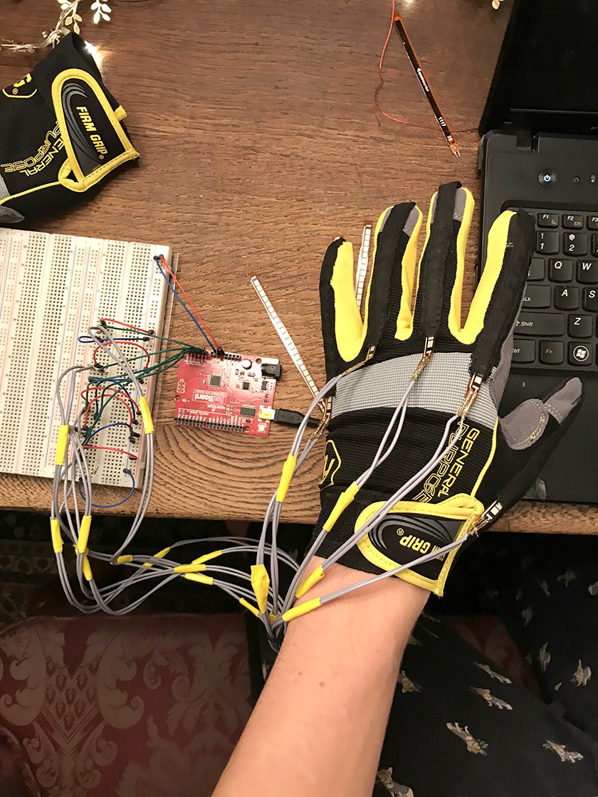 Ethan Damiani developed a wearable tech glove that uses sensors and code to translate ASL gestures into English.