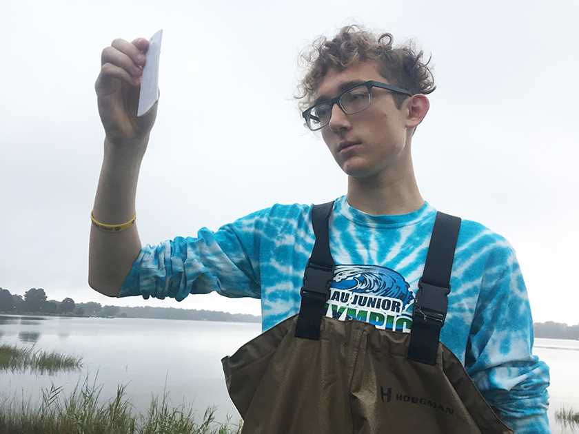 Jack Van Straten studied how invasive species affected biodiversity on Virginia shorelines.