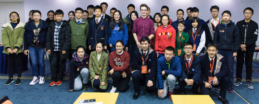 Tassilo spoke with Chinese STEM students.