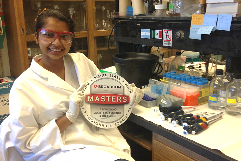 Alicia D'Souza conducts undergraduate research in the Stanford Department on Biology's Hanawalt Lab.