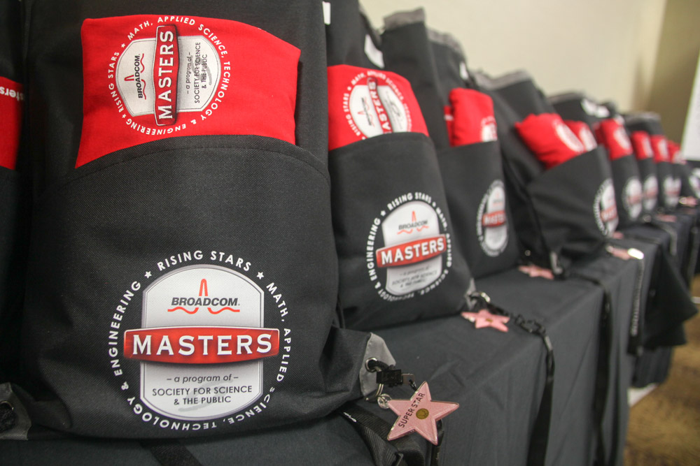 Each Broadcom MASTERS International delegate recieved some great Broadcom MASTERS swag.
