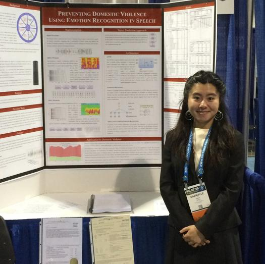 Gabrielle created an algorithm and neural network that can detect speech patterns and predict domestic violence.