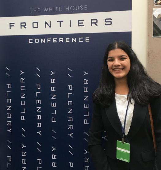Surabhi attended the White House Frontiers Conference in November. ~~ Photo courtesy of Surabhi Mundada.