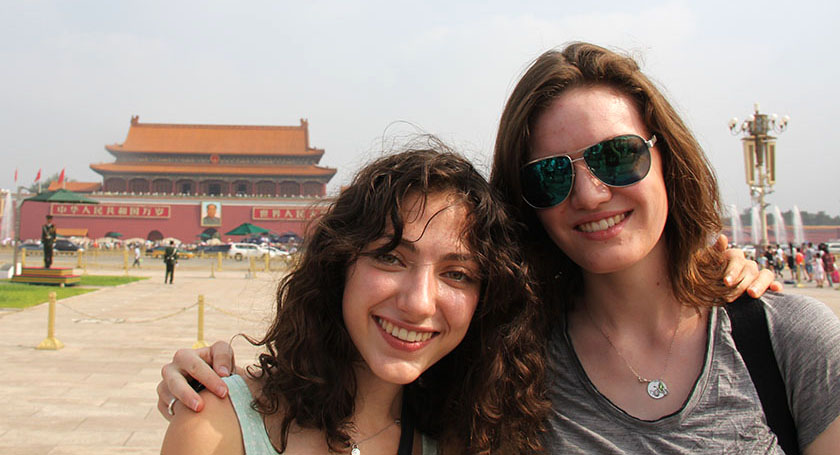 Katie Younglove and another Intel ISEF finalist in China.
