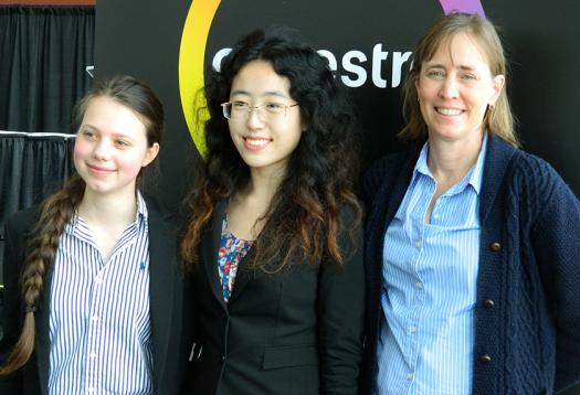 Janet with some of the students she mentors.