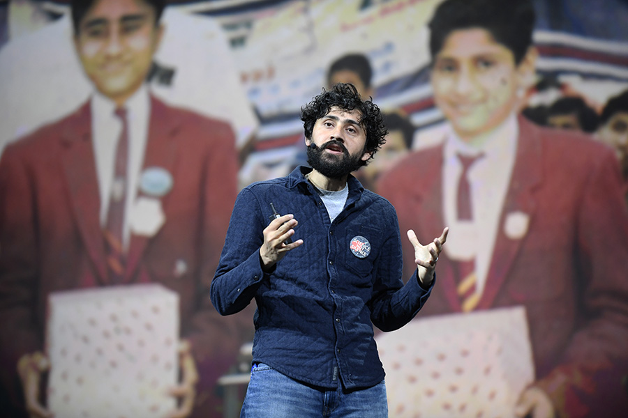 Manu Prakash described how scientific tools must be more accessible to people in the field, especially those without electricity.