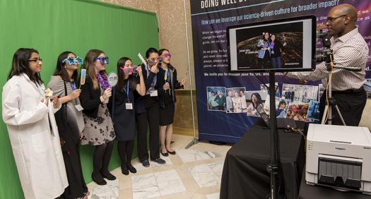 During the evening, the finalists had a chance to take fun photos with props.