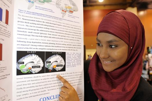 Zarin describes her research at Intel ISEF 2013.
