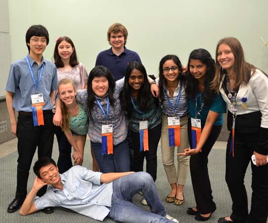 Broadcom MASTERS alumni meet up at Intel ISEF 2014.