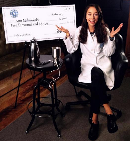 Ann won a $5,000 award from General Electric and Fallonventions from The Tonight Show Starring Jimmy Fallon for the eDrink.